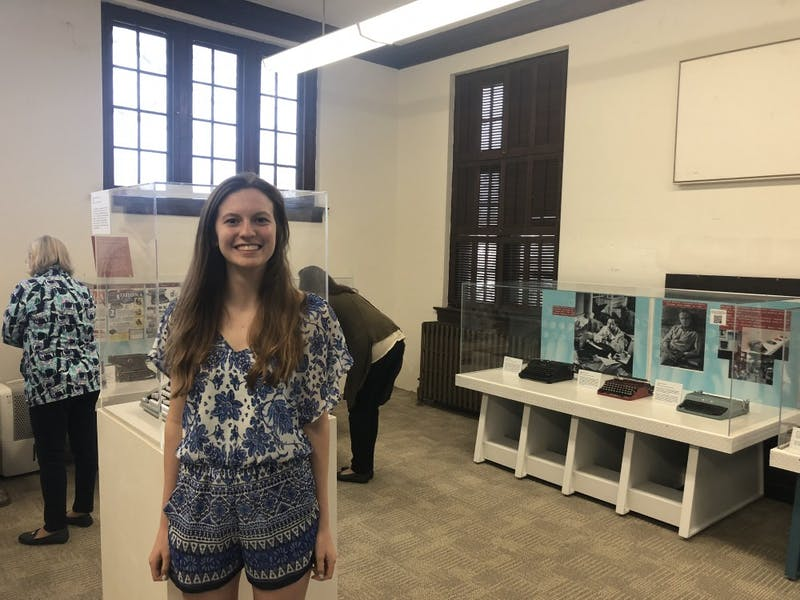 Mia Armstrong is a UNC sophomore and intern at the Orange County Historical Museum. Photo by Stephanie Pryor.