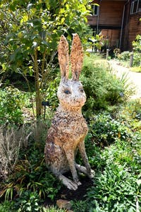 """""""Hare"""" by Tinka Jordy is one of 41 sculptures on display at the NC Botanical Garden from Sept. 17 through Dec. 10. Photo courtesy of Sandra Brooks-Mathers."""