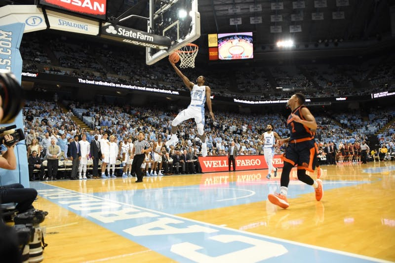 Guard Kenny Williams (24) makes a layup against Bucknell on Nov. 15 in the Smith Center.