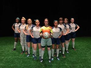 """Kenan Theatre Company's production of """"The Wolves"""" runs April 12-16. Photo courtesy Aubrey Snowden."""