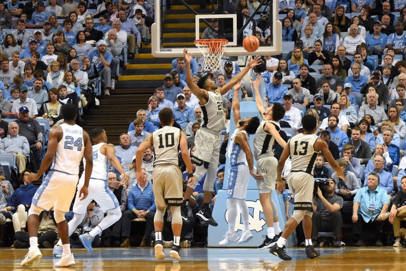 UNC men's basketball notches a close win against Wake Forest in ACC opener