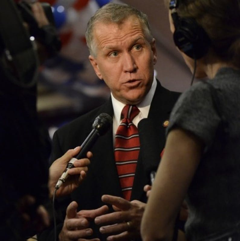 U.S. Sen. Thom Tillis, R-NC, while he was speaker of the House of the N.C. General Assembly in 2012. Tillis announced the SUCCEED Act in September 2017, which could provide a path to citizenship for young, undocumented immigrants in the absence of DACA.