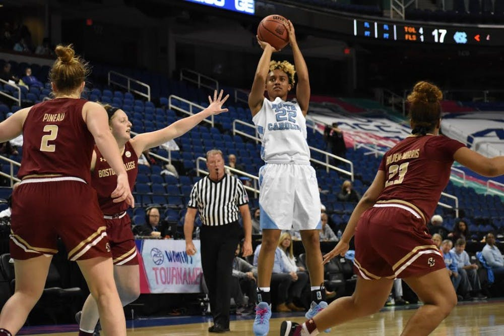 UNC women's basketball breaks nine-game losing streak with win over Boston College, 69-64