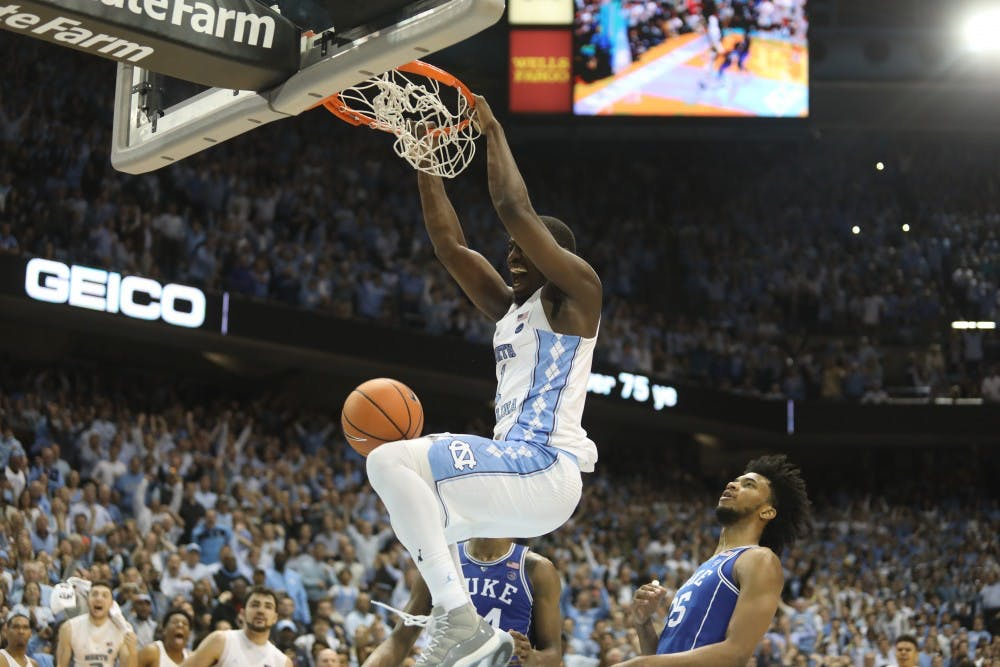 'It's one of those nights:' Theo Pinson punctuates 82-78 win over rival Duke
