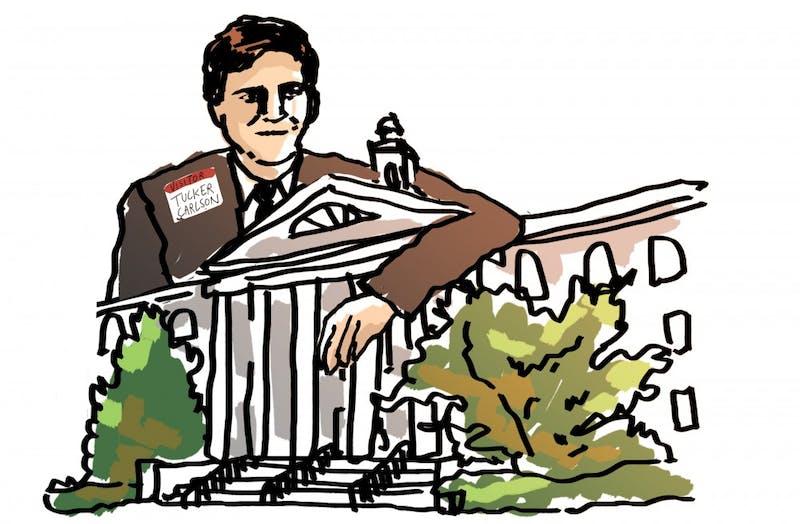 Tucker Carlson illustration