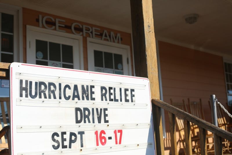 Maple View Farm Ice Cream held a disaster relief event over the past weekend in hopes of raising money to donate to the hurricane relief efforts.