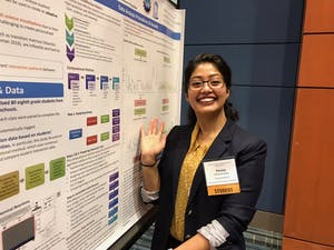 """Sweta Karlekar, a sophomore studying computer science, was featured in Endeavors, a UNC research publication, as an exemplary female researcher  in its series """"Women in Science Wednesday."""" Photo courtesy of Karlekar."""