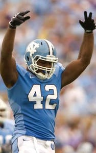 Former UNC defensive end Robert Quinn in 2010
