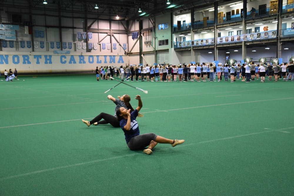 The Marching Tar Heels bring back the majorettes