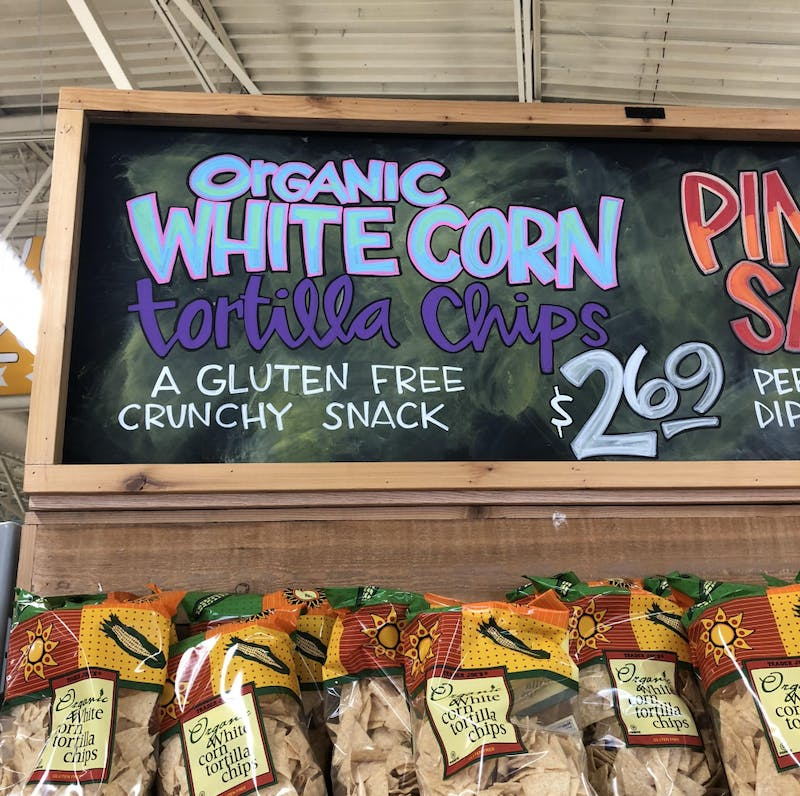 Corn chips are available at Trader Joe's for $2.69.