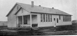 The Rosenwald Practice School at what is now Elizabeth City State University, circa 1925. The school was constructed in 1921 with $1,000 and was used to train local, black students to become teachers. Photo courtesy of Elizabeth City State University Archives.