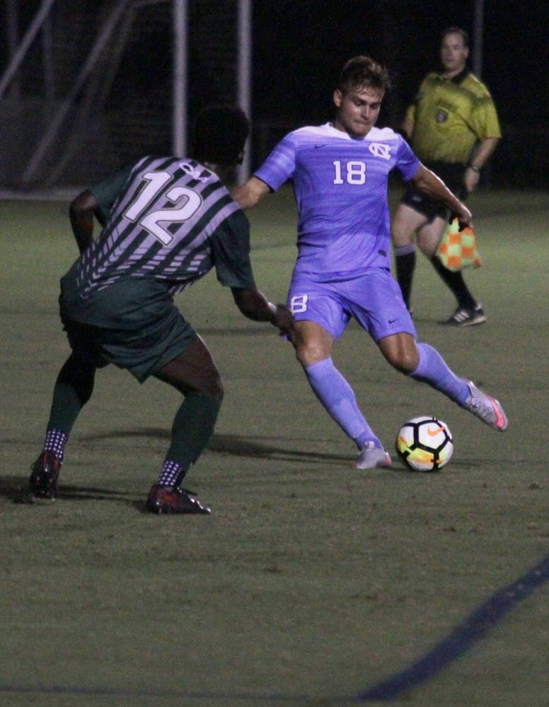 Offense does the heavy lifting for No. 8 UNC men's soccer in 3-2 win