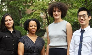 From left to right: Erika Serrato, Katrina Ellis, Kathryn Desplanque and Brian Hsu. Photo courtesy of Sibby Thompkins.