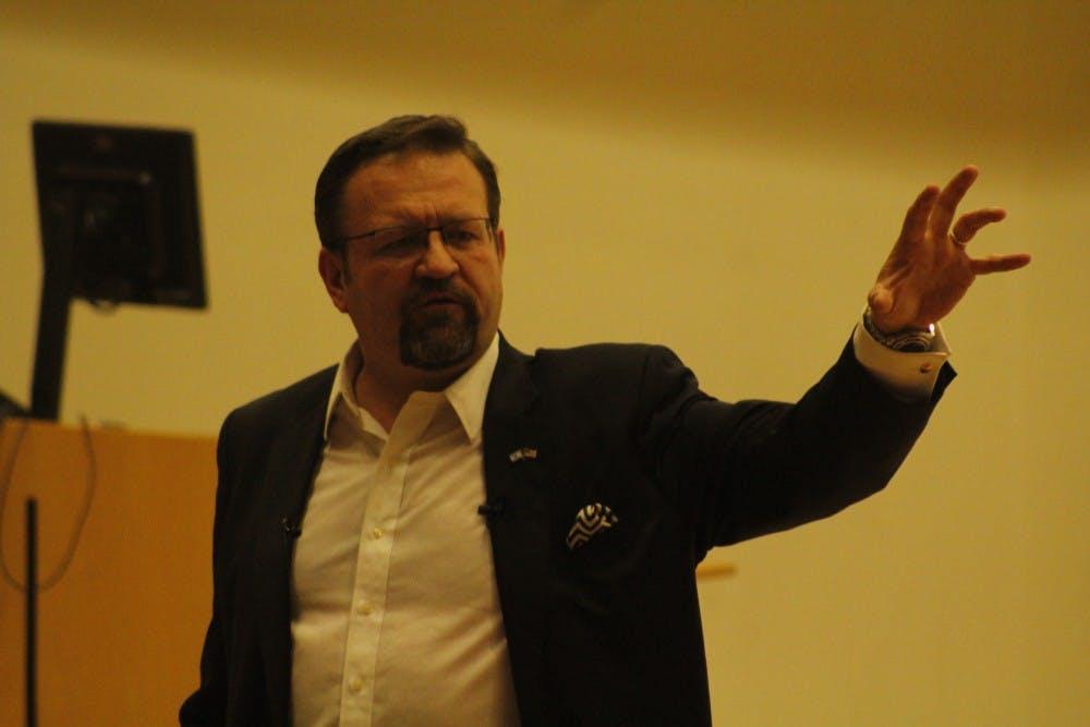 Former Trump adviser speaks at UNC amid protests