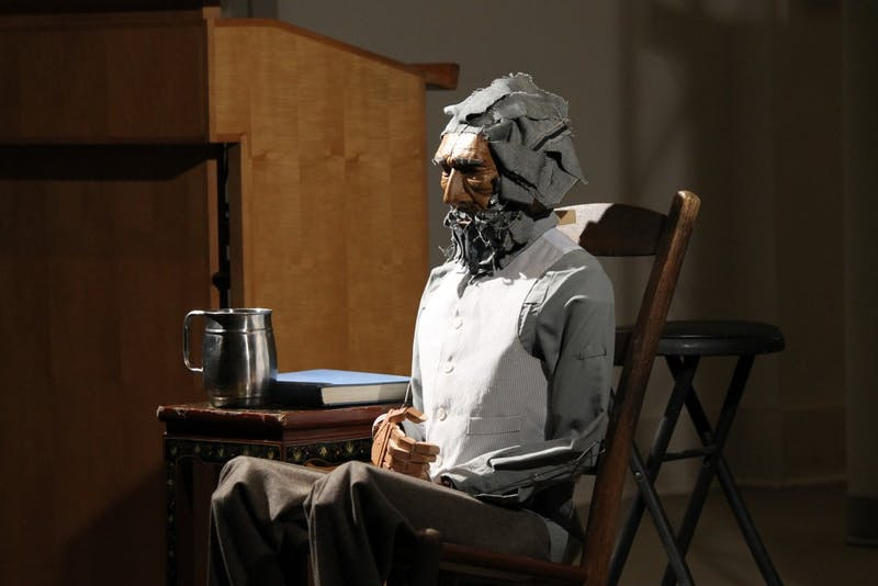 "A Frederick Douglass puppet present by artist Tarish ""Jeghetto"" Pipkins at the Frederick Douglass at 200 Kickoff Celebration on Thursday night."