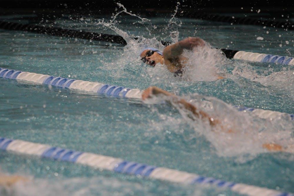 Press Coverage with swimmer Caroline Baldwin