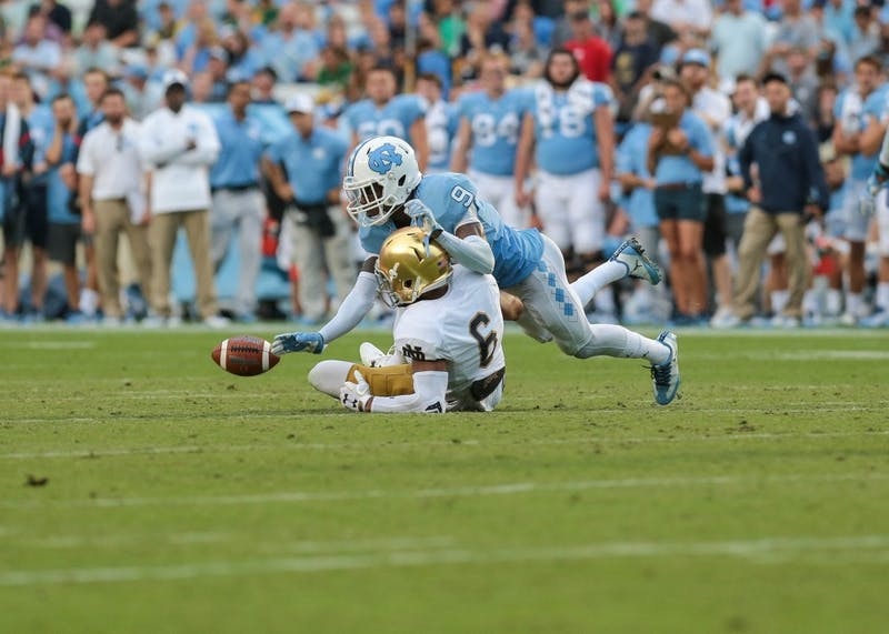 UNC football loses 33-10 against Notre Dame