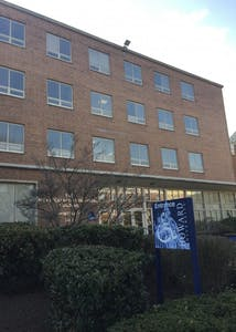 Howard University students occupied the university's Johnson Administration Building, pictured here. Students occupied the building for seven days to protest a string of administrative malpractices — most recently the misuse of financial aid funds.