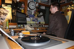 StudentHolden Ruch DJ's the late night shift for WXYC, UNC's college radio station.