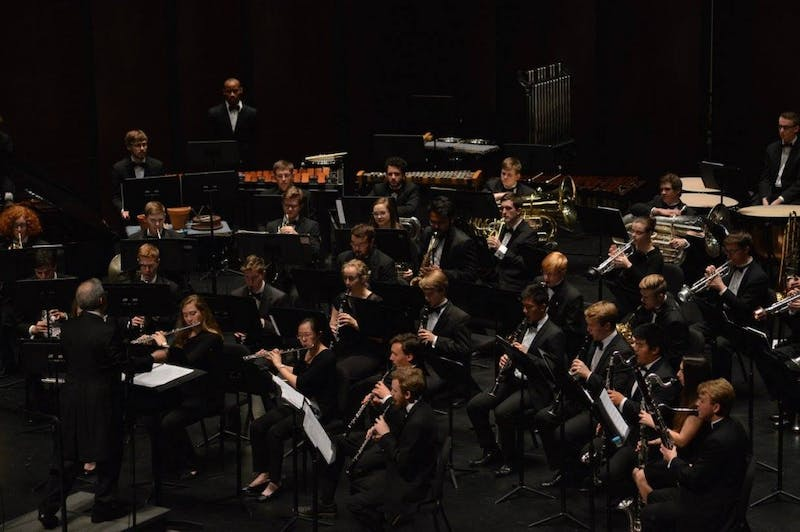 The Wind Ensemble and Symphony Band will perform Monday. Photo courtesy of Lesley Chao.