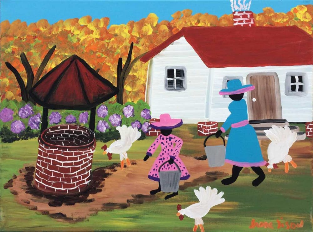 Irene Tison tells Gullah stories through her colorful paintings