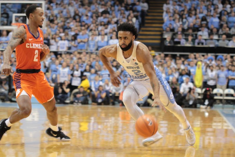 Joel Berry II (2) attacks the basket against Clemson on Jan. 16 in the Smith Center.