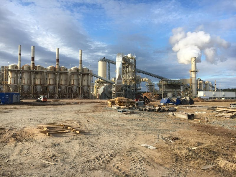 Wood pellet production factories such as Enviva facilities are often built in disadvantaged communities of color in the Southeastern U.S.