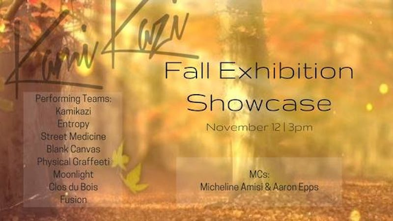 Kamikazi's Fall Exhibition Showcase is Nov. 12 at 3 p.m. in The Sonja Haynes Stone Center for Black Culture and History. Courtesy of Kayla Dehoniesto.