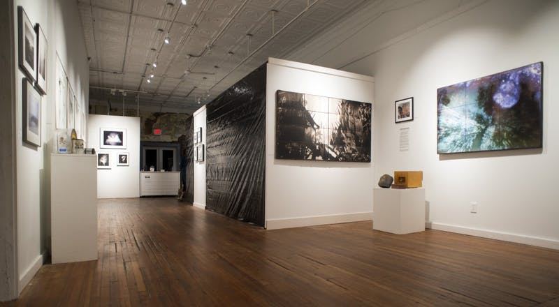 """The """"Long Exposure"""" exhibit at The Carrack gallery in Durham showcases pinhole photography. Photo by Jon Twietmeyer."""