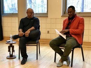 Glendon Palmer, a Hollywood producer, had a conversation with Samuel Ray Gates, a UNC assistant professor.