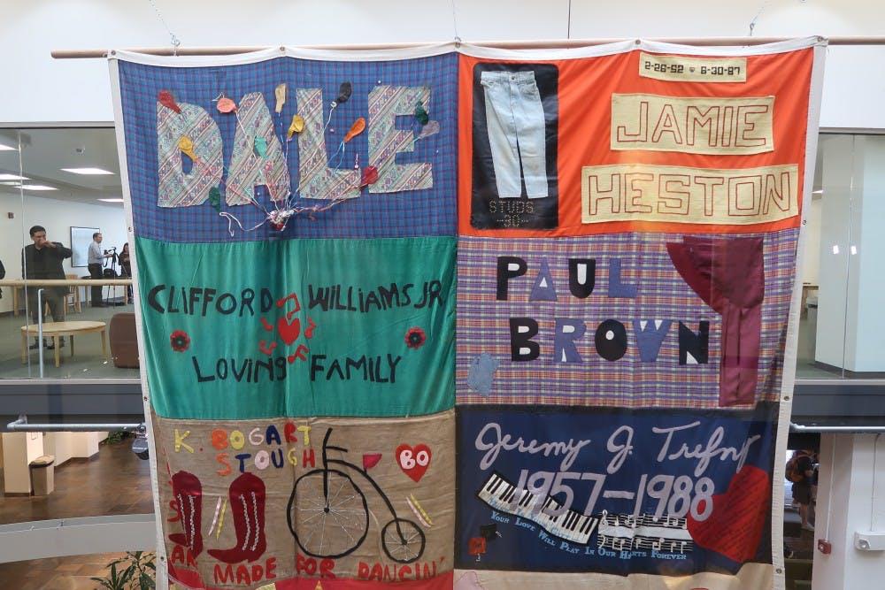 Panel of AIDS Memorial Quilt visits UNC in effort to raise awareness