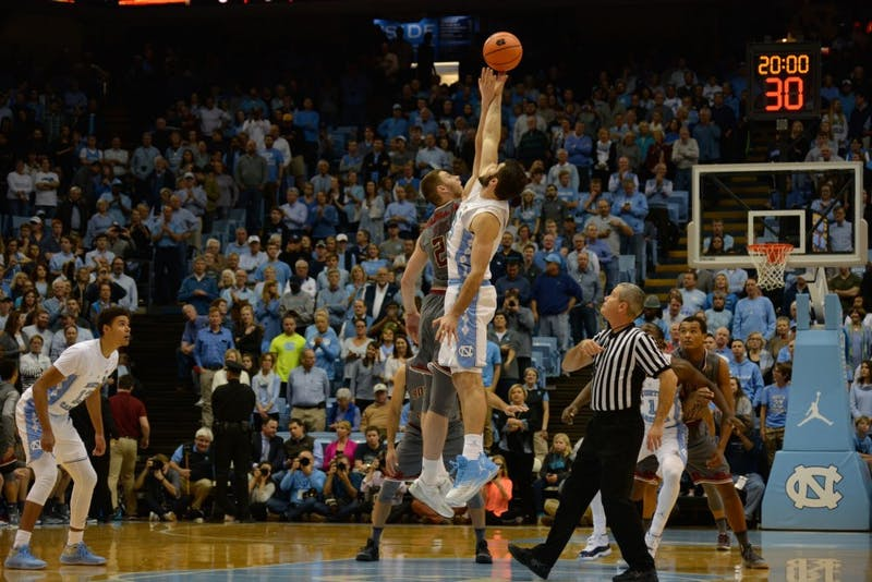 UNC bounces back against Boston College, 96-66.