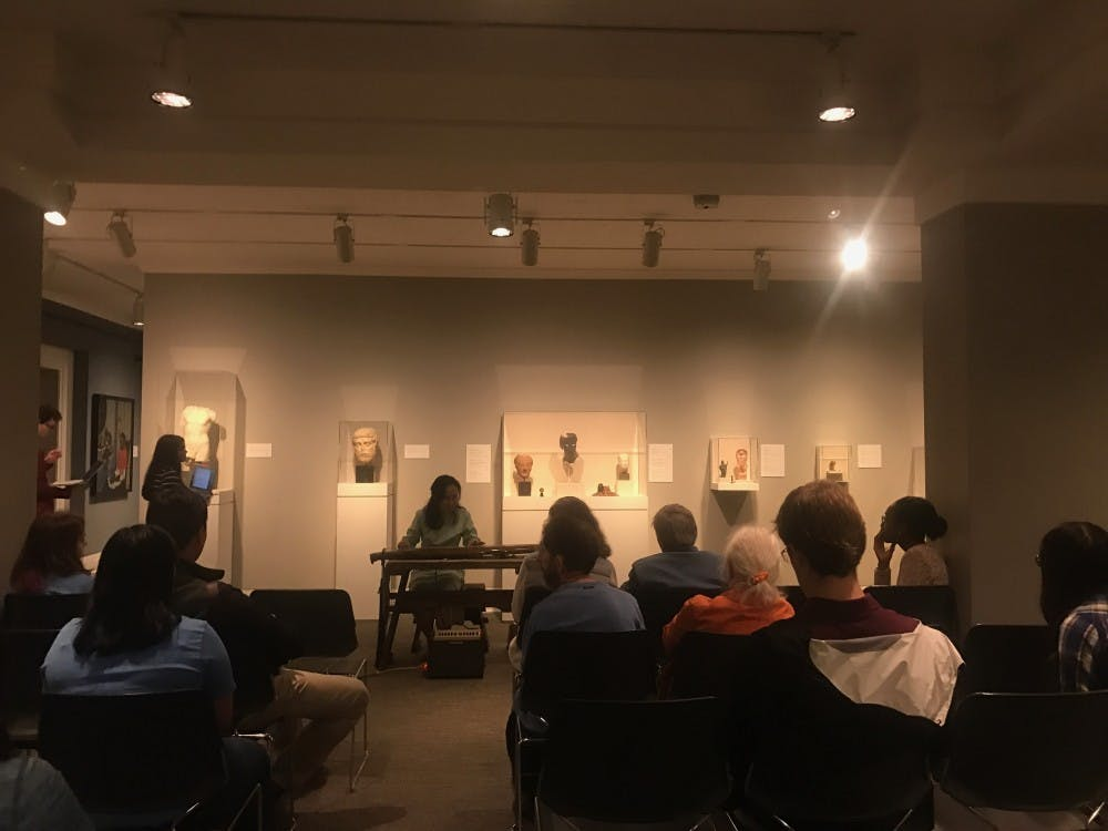 Dr. Li-ling Hsiao performs for 'Court and Capital' at the Ackland Art Museum