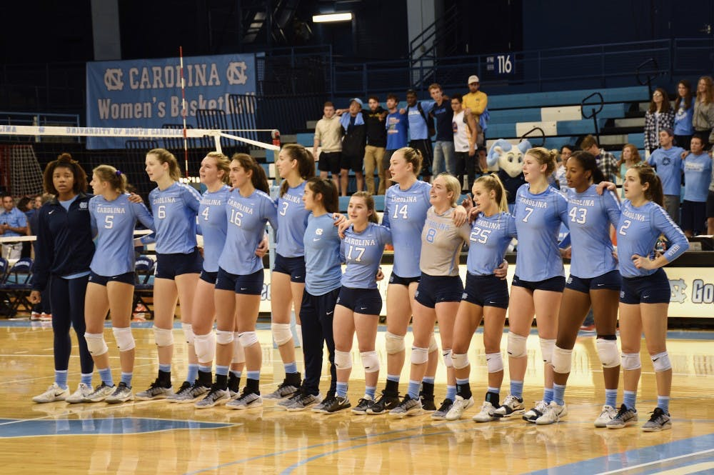 UNC volleyball sweeps Syracuse 3-0, moves to 11-1 at home
