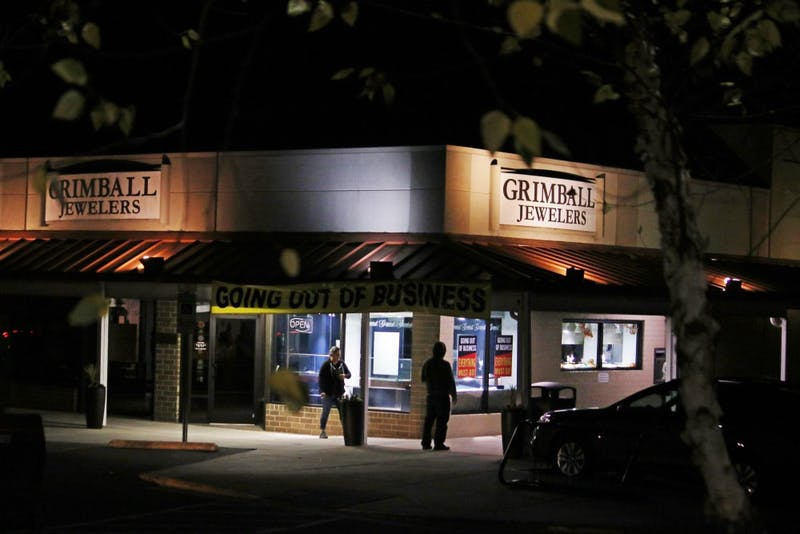 Grimball Jewelers in Chapel Hill is going out of business.