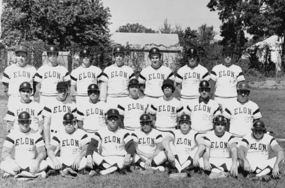 Elon Baseball in 1973, courtesy of Elon University Archives