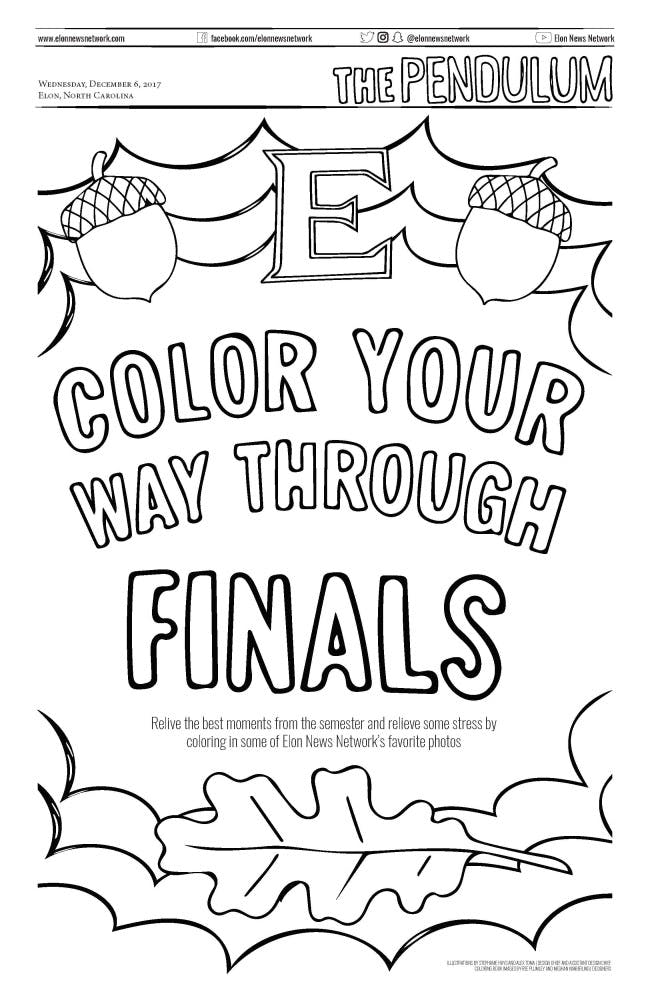 Color your way through finals with ENN\'s coloring book | Elon News ...