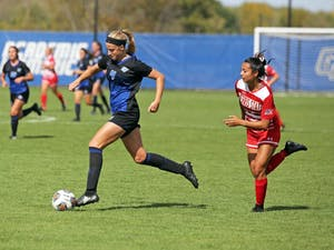 GVL / Emily FryeAva Cook during the game against Ferris State University on Sunday October 1, 2017.