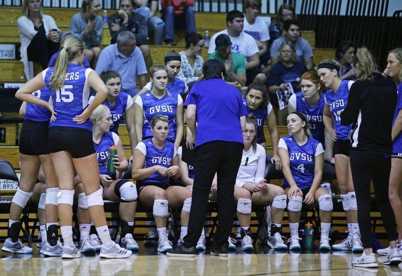 GVL / Emily FryeDeanne Scanlon talks with her team on Wednesday September 20, 2017.
