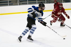 GVL / Spencer Scarber GVSU D2 Hockey vs. Indiana University on Friday January 12, 2018.