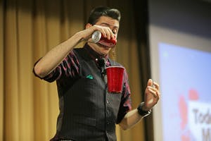 GVL / Emily FryeMagician Todd Magliaci on Thursday October 12, 2017.