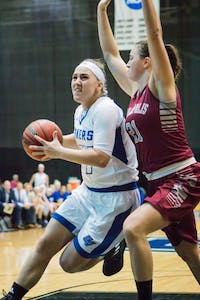 GVL / Spencer Scarber  The GVSU women's basketball team defeated Indianapolis 77-57 on Nov. 18, 2017.