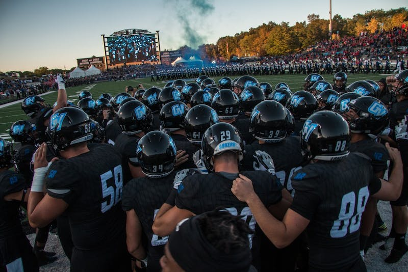 GVL / Spencer Scarber grand Valley State's Mens football team vs SVSU on Satueday september 30, 2017
