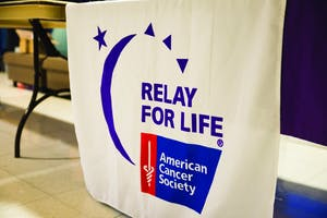 GVL/Luke Holmes - Relay for Life was held in the fieldhouse arena Friday, April 8, 2016.