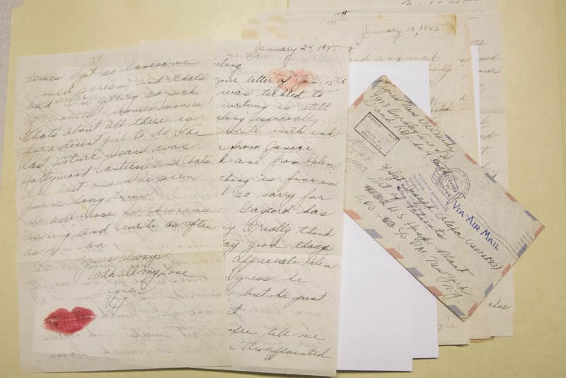 """GVL / Courtesy - Bernadine Carey - Tucker / gvsu.eduThe initial episodes of """"To the Letter"""" spotlight a correspondence of letters between a member of the U.S. Army 26th Infantry Division and his sweetheart during World War II."""