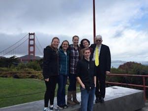 GVL / Courtesy - Madalyn SlubowskiThe GV team and our faculty champion, Prof Lane