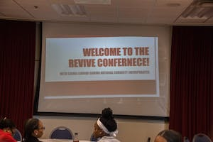 "GVL / Dylan McIntyre. Saturday, October 21, 2017. Revive Conference co-sponsored by Sigma Lambda Gamma was hosted to talk about the ""untalkable"" topics with students and faculty."