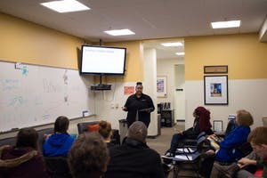 """GVL / Dylan McIntyre. GVSU Multicultural Affairs held """"Conversations of Color"""" on Wednesday, January 24, 2018."""