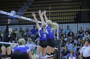 GVL / Emily Frye   Katie Olsen and Staci Brower on Tuesday September 19, 2017.