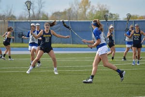 GVL/Hannah Zajac-- Grand Valley State v. Michigan (Club) at GVSU on Saturday 21 Oct 2017.